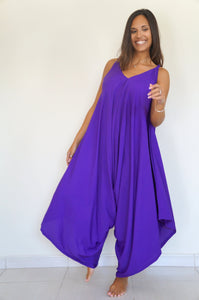 The Harem Jumpsuit - Cadbury Purple