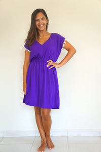 Elastic Tank Dress - Royal Purple