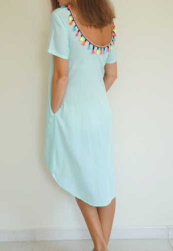 The Anywhere Scoop Dress - Aqua