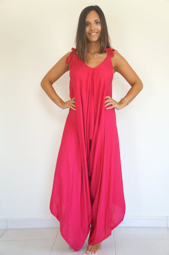 The Harem Jumpsuit - Raspberry