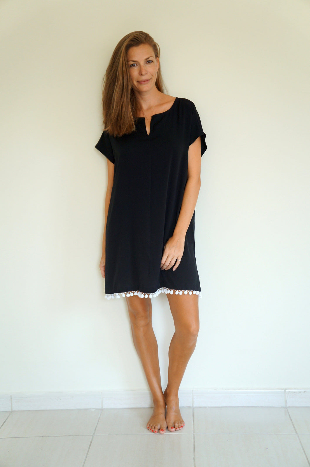 The Fitted Kaftan - Black
