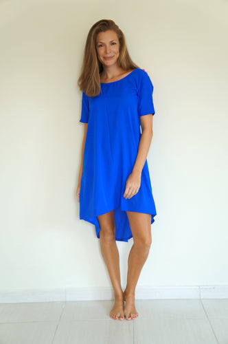The Anywhere Scoop Dress - Royal Blue