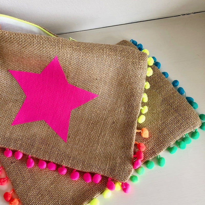 Pom-Pom Clutch Bag - Personalised with your initials