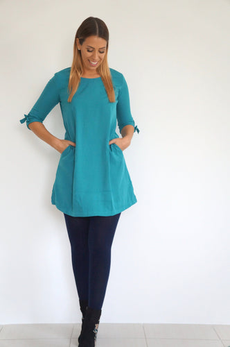 The AW Anywhere Dress - Teal