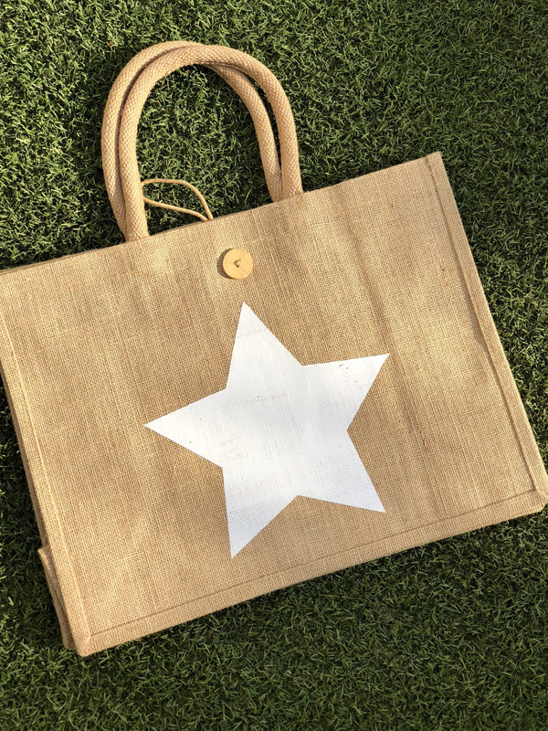 Eco Shopper Bag - Big Star print - Available in 14 colours