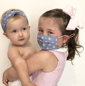 Baby Head Band - Blue and Pink Stars