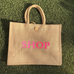 Eco Shopper Bag - SHOP print - Available in 14 colours