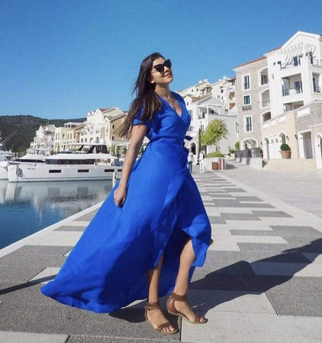 The Wrap dress - The perfect Royal Blue
