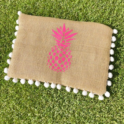 Pom-Pom Pineapple Clutch Bag