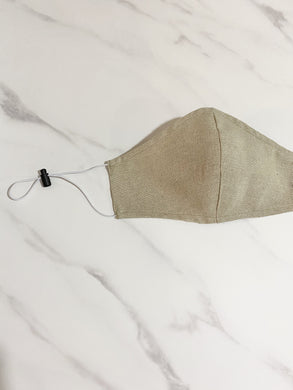 Linen Fashion Mask - Soft Khaki