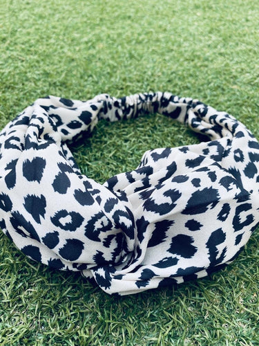 Head Bands - Hand Made - Black White Animal