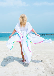 The Long Beach Kimono - White Chiffon