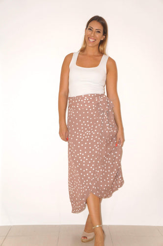 The Ruffle Wrap Skirt - Pale Pretty Woman