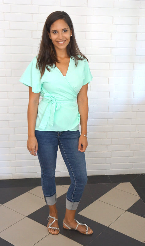 The Wrap Shirt - Aqua