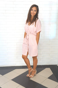 The Shirt Dress - Vintage Pink
