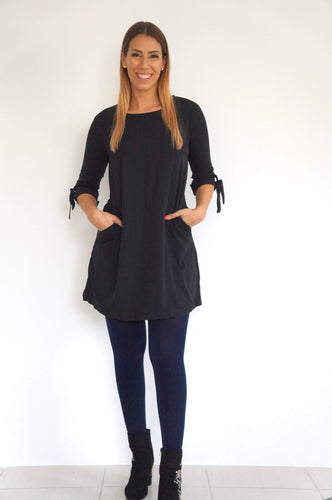 The AW Anywhere Dress - Midnight Black