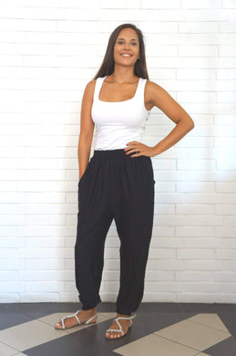 The Easy Trousers - The Softest Classic Black