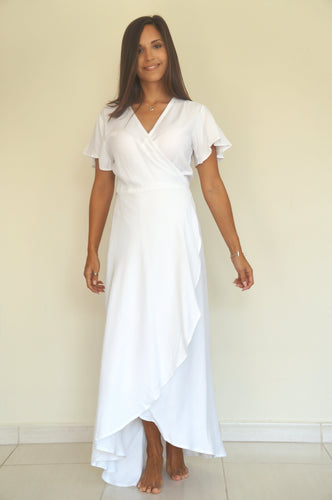 The Wrap dress - Pure White
