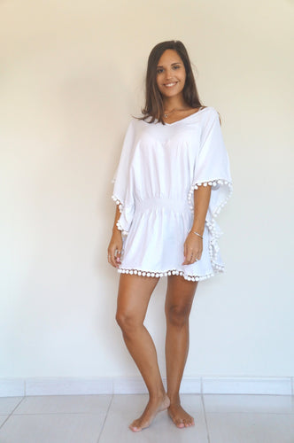 Low Waisted Kaftan – Pure White