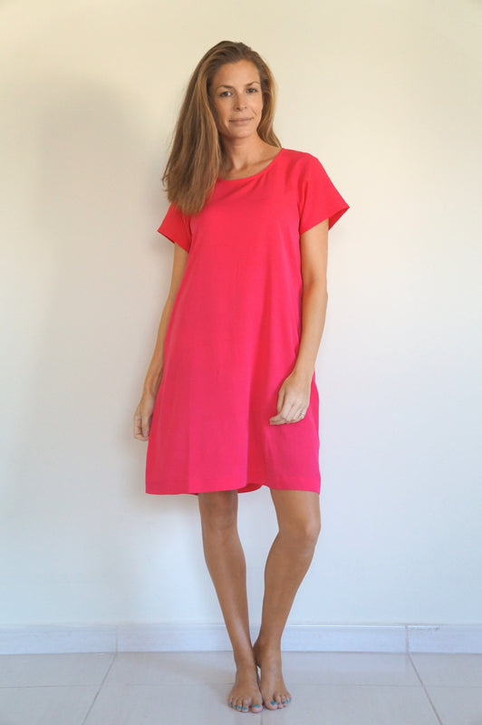The Anywhere Dress - Raspberry