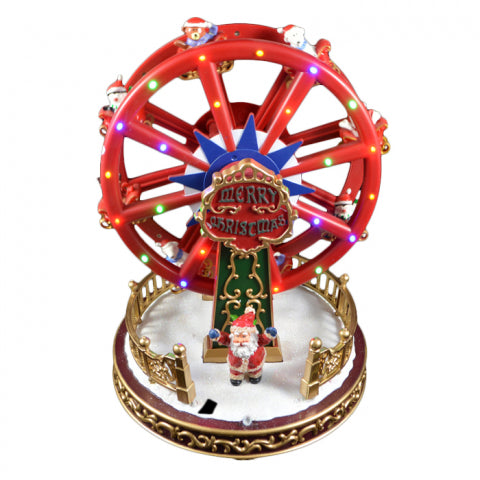 Christmas Red Light Up Ferris Wheel 26cm