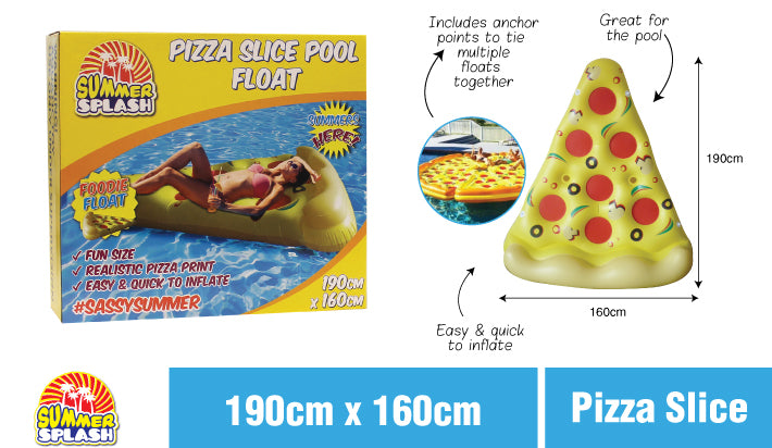 Summer Pizza Slice Pool Float Inflatable