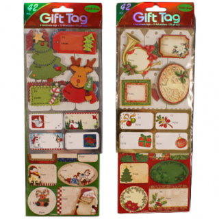 Christmas 42pk Assorted Label Gift Tag Stickers