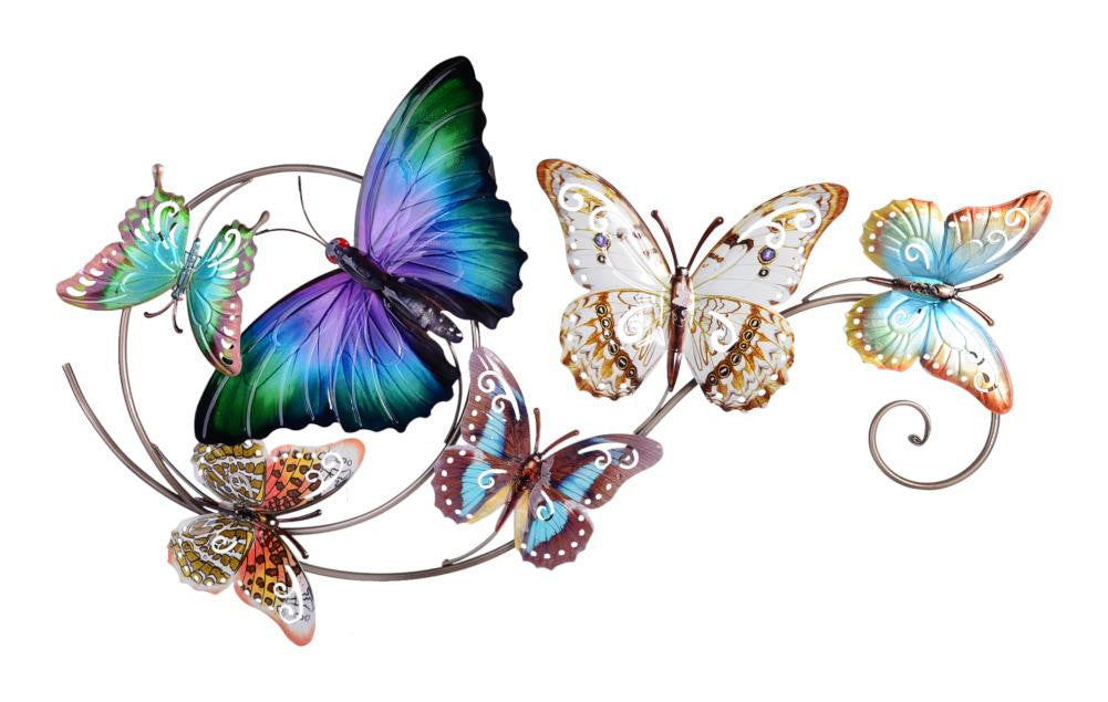 Home Garden Butterfly Swirl Plaque 46x74cm