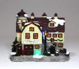 Christmas Barnsale Light Up House Scene