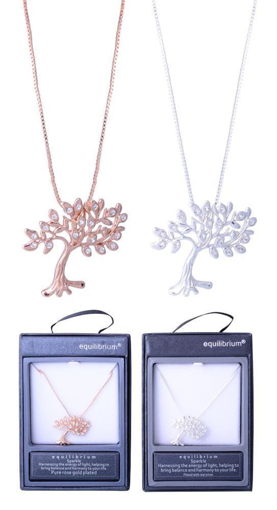 Equilibrium Diamante Tree of Life Necklace
