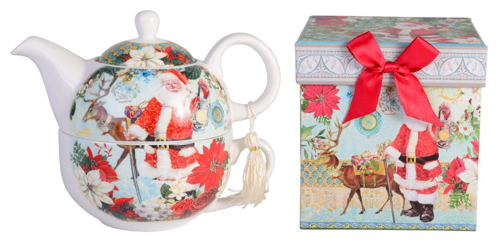 Christmas Joyful Santa Tea for One Set