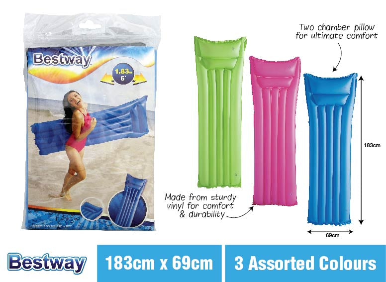Summer Fun Neon Colour Air Bed Pool Inflatable Assorted