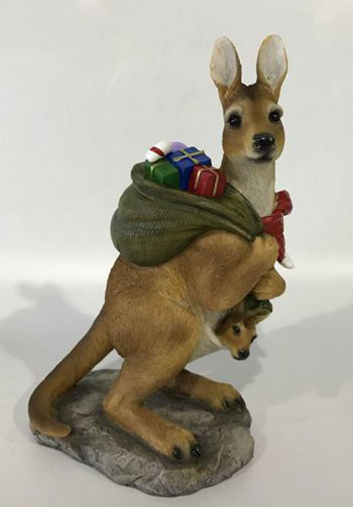 Christmas Kangaroo with Sack Green