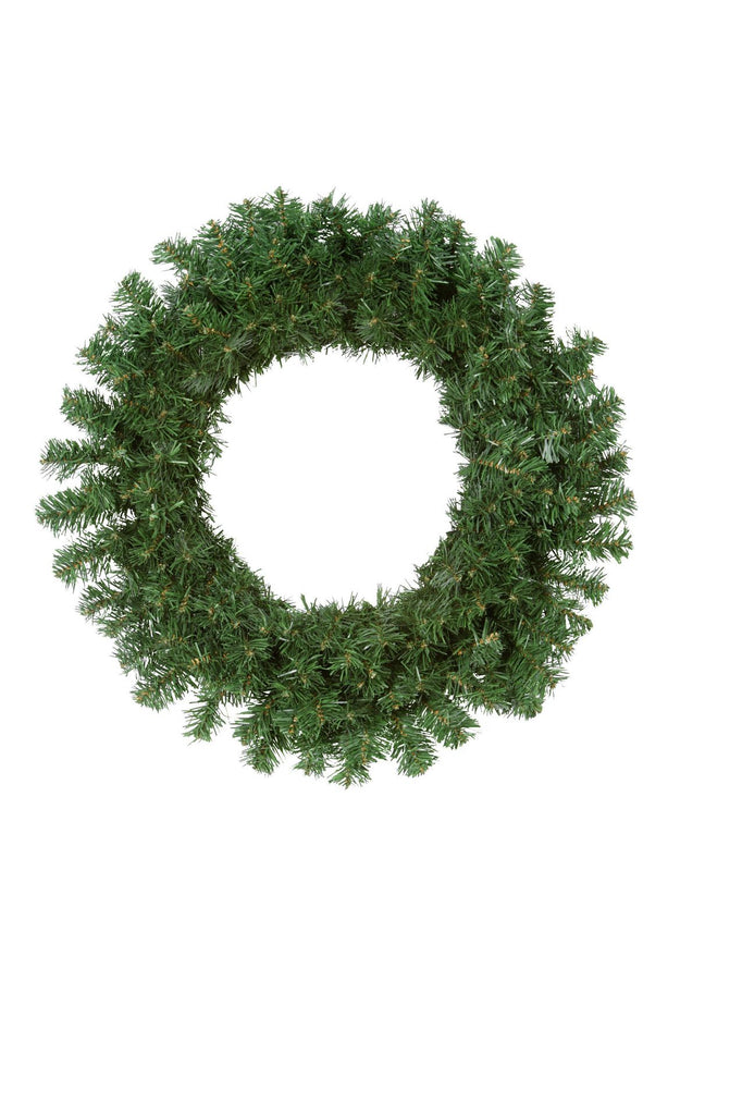 Traditional Plain Green Wreath 2FT (0.6m)