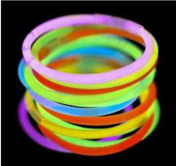 Party 5 Pack Glow Sticks Bracelets Assorted
