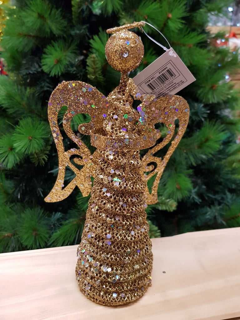 Christmas Deluxe Angel Tree Topper 25cm