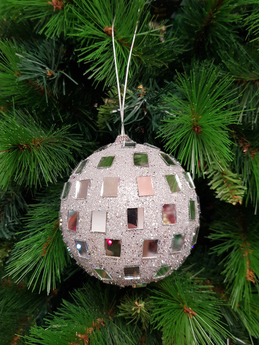 Christmas Mosaic Hanging Ball Assorted