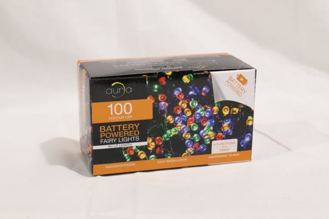 Christmas 100 LED Battery Operated Fairy Lights Multicolour