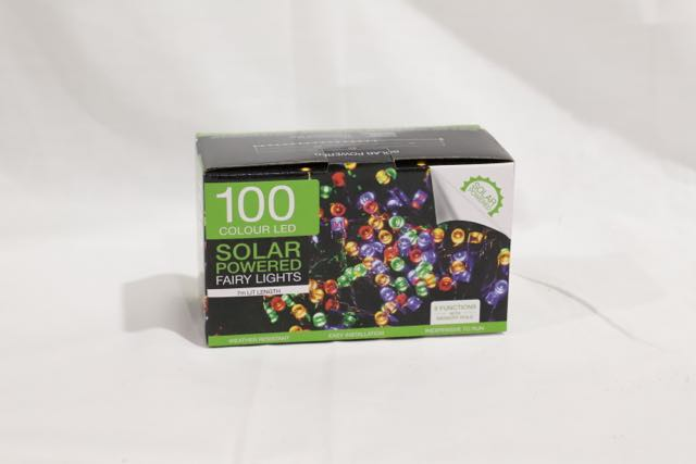 Christmas 100 LED Solar Fairy Lights Multicolour