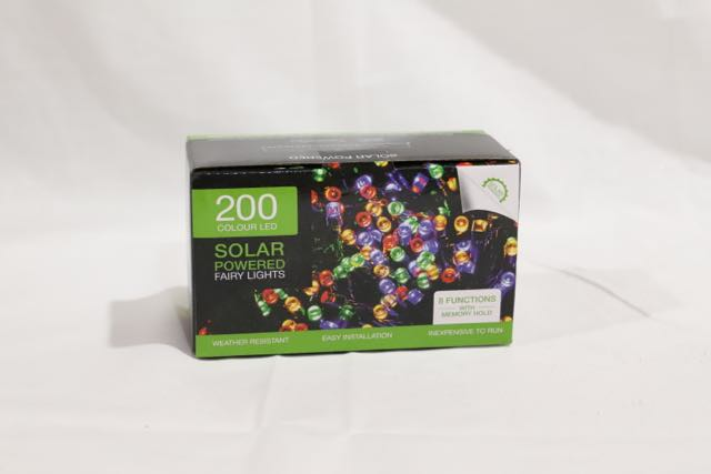 Christmas 200 LED Solar Fairy Lights Multicolour