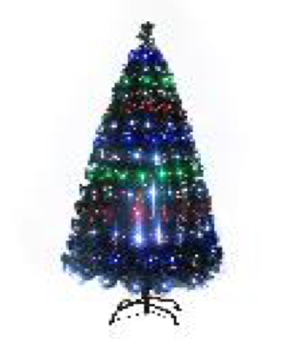 Christmas Fibre Optic Tree LED Tips 180cm