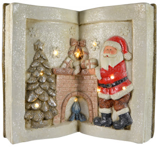 Christmas Polyresin LED Christmas Book Scene