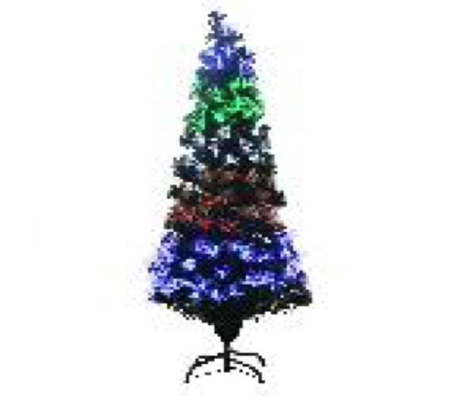 Christmas Fibre Optic Tree LED Cascading 180cm