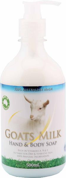 Goat's Milk Hand and Body Soap 500ml