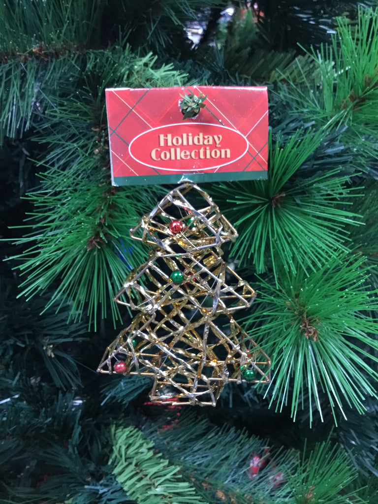 Christmas Mesh Wire Tree Gold