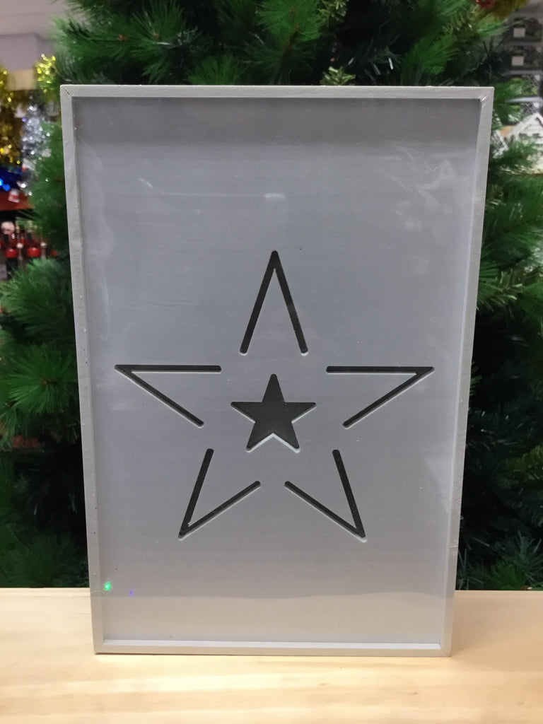 Christmas Wooden Light Up Box Star