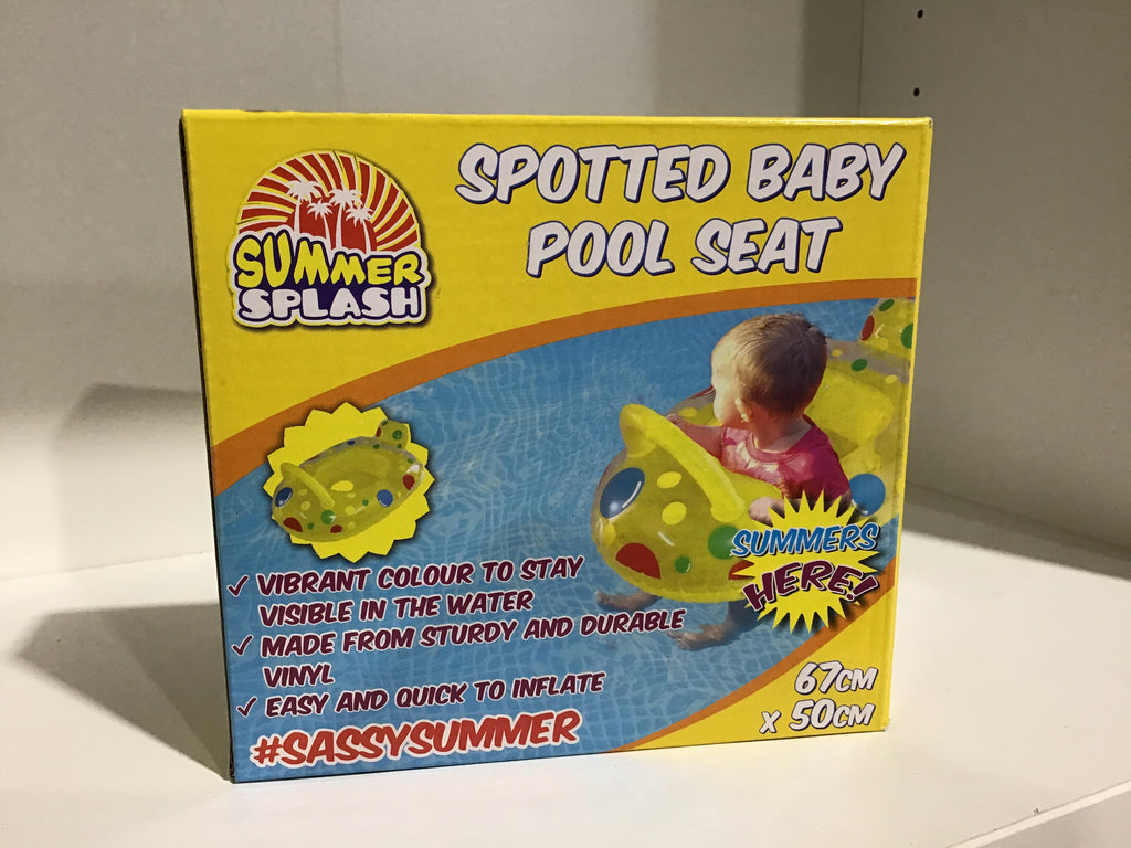 Summer Fun Spotted Baby Pool Seat 67cm x 50cm