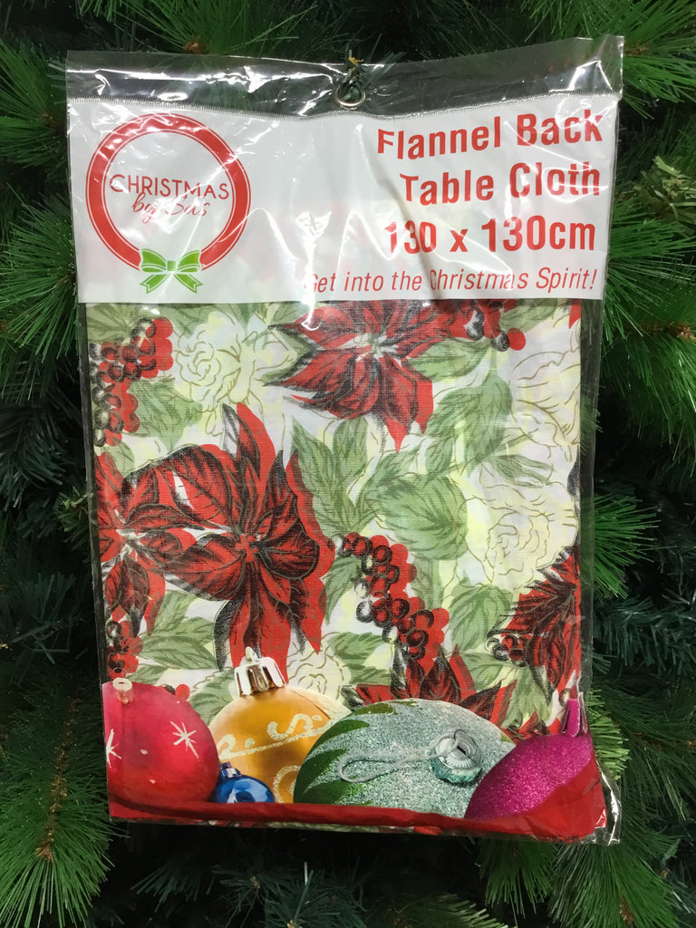 Christmas Tablecloth 130x130cm Assorted