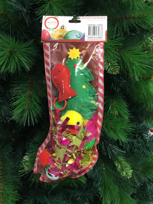 Christmas Cat Toy Stocking