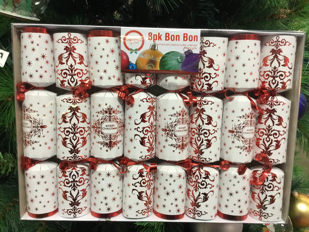 Christmas 8pk Bon Bon Crackers Assorted
